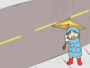 Rating: Safe Score: 6 Tags: koiwai_yotsuba umbrella yotsubato! User: Oyashiro-sama