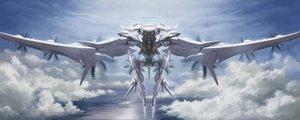 Rating: Safe Score: 44 Tags: ace_combat ace_combat_7 anthropomorphism arsenal_bird clouds halo mechagirl sky tom-neko_(zamudo_akiyuki) water User: otaku_emmy
