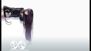 Rating: Safe Score: 102 Tags: black_eyes black_hair catgirl dress headphones lepus long_hair original tail User: zoobezee