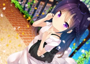 Rating: Safe Score: 88 Tags: braids chinomaron dress gochuumon_wa_usagi_desu_ka? long_hair petals purple_eyes purple_hair tedeza_rize User: RyuZU