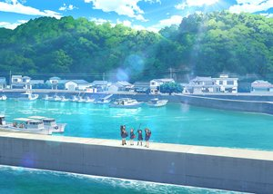 Rating: Safe Score: 23 Tags: boat building clouds houkago_teibou_nisshi scenic school_uniform skirt sky tagme_(artist) tagme_(character) water User: RyuZU