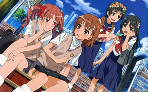 Rating: Safe Score: 25 Tags: black_hair blush bow brown_eyes brown_hair building city clouds food green_eyes headdress ice_cream kiyoshi_tateshi kneehighs long_hair misaka_mikoto pink_eyes saten_ruiko seifuku shirai_kuroko short_hair skirt socks stairs to_aru_kagaku_no_railgun to_aru_majutsu_no_index twintails uiharu_kazari windmill User: pantu