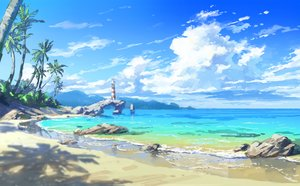 Rating: Safe Score: 44 Tags: beach clouds lighthouse nobody odaartworks original scenic sky tree waifu2x water User: RyuZU
