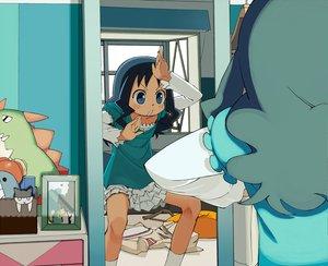 Rating: Safe Score: 50 Tags: blue_eyes blue_hair doll heartcatch_precure! kurumi_erika precure school_uniform skirt yukihiroyuki User: SonicBlue