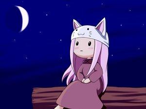 Rating: Safe Score: 41 Tags: blush cat_smile dress hat long_hair megurine_luka moon night pink_hair sky stars toeto vocaloid User: Katsumi