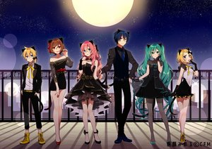 Rating: Safe Score: 32 Tags: asagao_minoru dress hatsune_miku kagamine_len kagamine_rin kaito megurine_luka meiko moon suit vocaloid User: FormX
