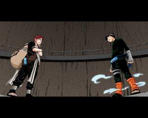 Rating: Safe Score: 15 Tags: all_male black_hair blue_eyes gaara male naruto red_hair rock_lee User: Oyashiro-sama