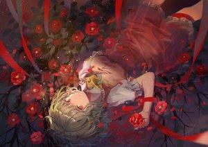 Rating: Safe Score: 68 Tags: dress elise_(piclic) flowers green_hair kazami_yuuka red_eyes ribbons short_hair touhou User: sadodere-chan