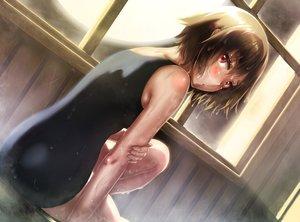 Rating: Safe Score: 117 Tags: blush brown_hair red_eyes short_hair swimsuit tagme_(character) wet yume_2kki yume_nikki zazazazazazawa User: Flandre93