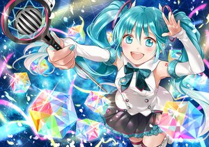 Rating: Safe Score: 24 Tags: hatsune_miku long_hair magical_mirai_(vocaloid) sakikko twintails vocaloid User: sadodere-chan