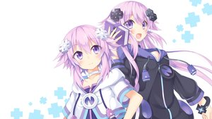 Rating: Safe Score: 126 Tags: adult_neptune book east01_06 hoodie hyperdimension_neptunia hyperdimension_neptunia_vii long_hair neptune purple_eyes purple_hair short_hair third-party_edit white User: Dummy