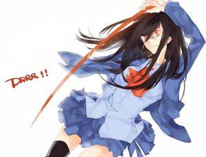 Rating: Safe Score: 13 Tags: brown_hair glasses long_hair red_eyes skirt thighhighs white User: w7382001