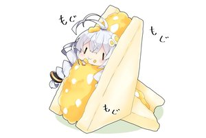 Rating: Safe Score: 30 Tags: braids chibi food kizuna_akari long_hair milkpanda twintails voiceroid User: otaku_emmy