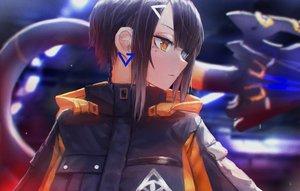 Rating: Safe Score: 26 Tags: bicolored_eyes black_hair close hoodie kasagarasu original short_hair sumi_elias tail techgirl User: otaku_emmy