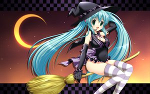Rating: Safe Score: 56 Tags: halloween hatsune_miku suzui_narumi thighhighs vocaloid witch User: anaraquelk2