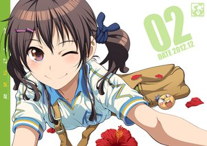 Rating: Safe Score: 111 Tags: brown_eyes brown_hair flowers jpeg_artifacts pairan tagme twintails wink User: opai
