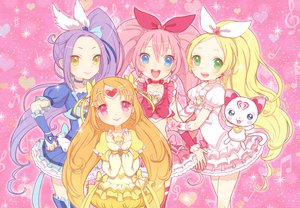 Rating: Safe Score: 22 Tags: animal bow cat dress houjou_hibiki inase kurokawa_ellen long_hair minamino_kanade precure shirabe_ako suite_precure tagme User: opai