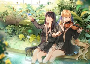 Rating: Safe Score: 35 Tags: 2girls animal bird instrument ktmzlsy720 long_hair original school_uniform skirt violin User: BattlequeenYume