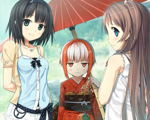 Rating: Safe Score: 162 Tags: arishima_alice blush cropped cura game_cg headband japanese_clothes loli lose monobeno sawai_natsuha sumi_(monobeno) umbrella User: Wiresetc