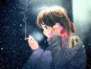 Rating: Safe Score: 25 Tags: brown_eyes brown_hair cigarette original phone scarf short_hair smoking snow thomas_hewitt User: C4R10Z123GT