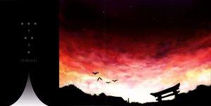 Rating: Safe Score: 14 Tags: animal bird clouds sky sunset tagme torii User: Oyashiro-sama
