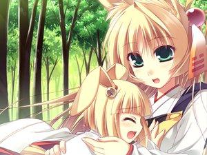 Rating: Safe Score: 10 Tags: animal_ears blonde_hair green_eyes moriguchi_yuu User: HawthorneKitty