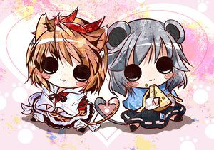 Rating: Safe Score: 23 Tags: animal_ears catgirl chibi mousegirl nazrin toramaru_shou touhou User: HawthorneKitty