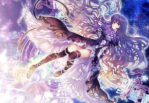 Rating: Safe Score: 129 Tags: brown_eyes dress hijiri_byakuren long_hair magic pico purple_hair thighhighs touhou User: HawthorneKitty