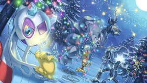 Rating: Safe Score: 26 Tags: christmas forest froslass group joltik luxray moon night pokemon scrafty scraggy snow spareribs stars steelix tree xurkitree User: otaku_emmy