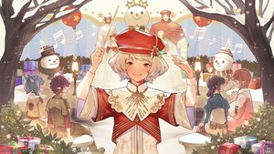 Rating: Safe Score: 17 Tags: black_eyes blonde_hair blue_eyes brown_hair christmas elezen final_fantasy final_fantasy_xiv green_eyes hyur miqo'te music roegadyn short_hair snow snowman square_enix tagme_(artist) white_hair User: SciFi