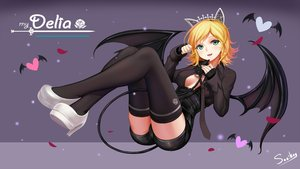 Rating: Safe Score: 129 Tags: animal_ears blonde_hair breasts cameltoe erect_nipples green_eyes headband mabinogi mabinogi_heroes open_shirt short_hair shorts signed sonic0_0 tagme_(character) tail thighhighs tie wings User: luckyluna
