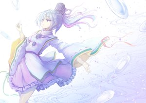 Rating: Safe Score: 29 Tags: blue_eyes blue_hair dress furapechi hat mononobe_no_futo petals ponytail ribbons touhou User: RyuZU