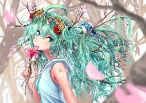 Rating: Safe Score: 71 Tags: animal bird cherry_blossoms flowers hatsune_miku jino454649boy tree vocaloid User: humanpinka
