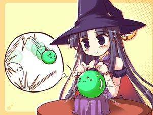 Rating: Safe Score: 11 Tags: happiness hat takamine_koyuki witch yellow User: Oyashiro-sama
