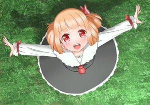 Rating: Safe Score: 39 Tags: blonde_hair blush dress grass loli red_eyes roco_(katsuya1011) rumia short_hair touhou User: otaku_emmy