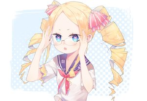 Rating: Safe Score: 88 Tags: aotetsu_(963421) aqua_eyes beatrice_(re:zero) blonde_hair blush bow glasses loli re:zero_kara_hajimeru_isekai_seikatsu school_uniform signed User: FormX