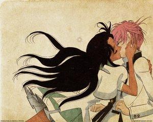 Rating: Safe Score: 45 Tags: himemiya_anthy kiss revolutionary_girl_utena shoujo_ai shoujo_kakumei_utena tenjou_utena User: Oyashiro-sama