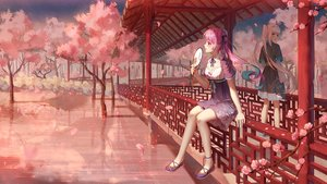 Rating: Safe Score: 125 Tags: 2girls breasts cherry_blossoms chinese_clothes cleavage dress fan flowers hololive ji_dao_ji kagura_mea kagura_mea_channel long_hair minato_aqua orange_eyes petals pink_eyes pink_hair reflection scenic sky stars tree twintails water white_hair User: BattlequeenYume
