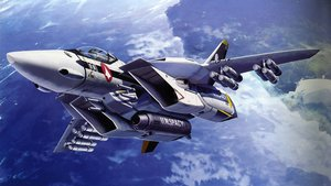 Rating: Safe Score: 19 Tags: aircraft clouds macross military scan sky tenjin_hidetaka weapon User: mpzocker