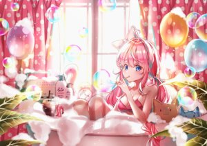 Rating: Safe Score: 22 Tags: bath bikini blue_eyes bow breasts bubbles cleavage drink lium long_hair original pink_hair swimsuit twintails water User: BattlequeenYume