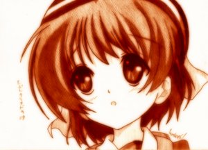 Rating: Safe Score: 21 Tags: clannad godees monochrome okazaki_ushio User: talchi