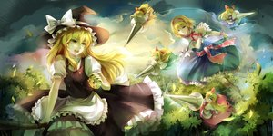 Rating: Safe Score: 79 Tags: alice_margatroid doll hourai kirisame_marisa mage shanghai_doll touhou witch User: HeadPhone