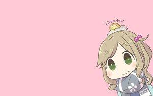 Rating: Safe Score: 31 Tags: chibi food green_eyes inishie inuyama_aoi pink scarf yuru_camp User: RyuZU