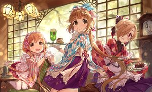 Rating: Safe Score: 35 Tags: apron boots drink food futaba_anzu gloves idolmaster idolmaster_cinderella_girls japanese_clothes lolita_fashion shirasaka_koume tamaext waitress yorita_yoshino User: RyuZU