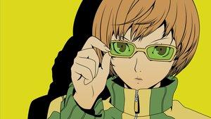 Rating: Safe Score: 14 Tags: brown_eyes brown_hair close glasses persona persona_4 satonaka_chie short_hair vector User: RyuZU