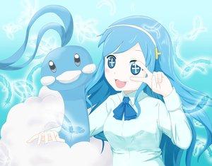 Rating: Safe Score: 43 Tags: altaria blue_eyes blue_hair crossover headband himouto!_umaru-chan pokemon polychromatic tachibana_sylphynford tagme_(artist) wings User: mattiasc02