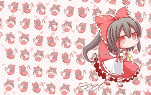 Rating: Safe Score: 96 Tags: angeltype black_hair bow braids chibi hakurei_reimu japanese_clothes long_hair miko petals ponytail red_eyes touhou User: ガラス