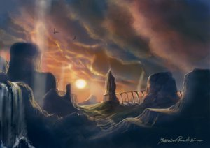 Rating: Safe Score: 46 Tags: landscape scenic shadow_of_the_colossus sunset User: KeckII