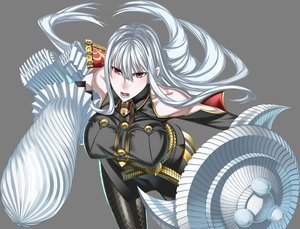 Rating: Safe Score: 44 Tags: gray gray_hair honjou_raita long_hair pantyhose red_eyes selvaria_bles transparent uniform valkyria_chronicles weapon User: Wiresetc