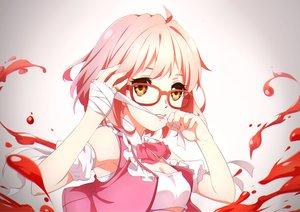 Rating: Safe Score: 90 Tags: bandage ello-chan glasses kuriyama_mirai kyoukai_no_kanata User: FormX